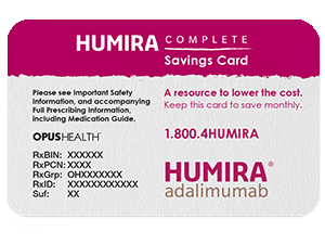 Patient Assistance Copay Savings Card For Humira Cost