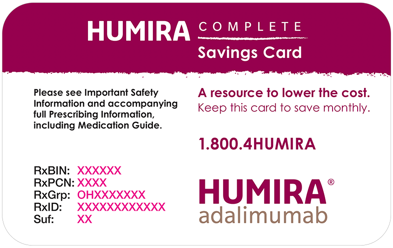 Example HUMIRA Complete Savings Card